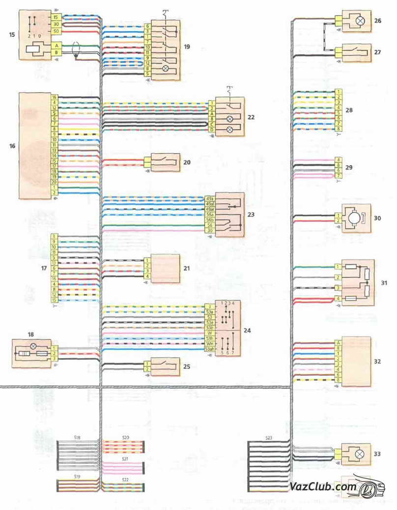 Скачать Цветные схемы электрооборудования ВАЗ 1118 - 11183 LADA KALINA.  Программы для чтения электронных книг.