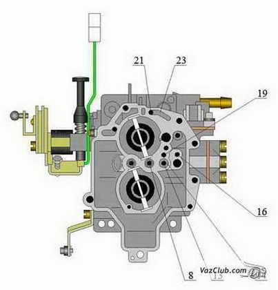 Схема подключения карбюратора солекс.
