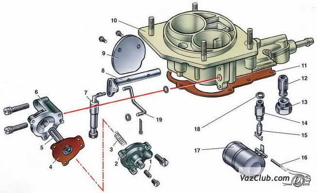 Детали крышки карбюратора ваз