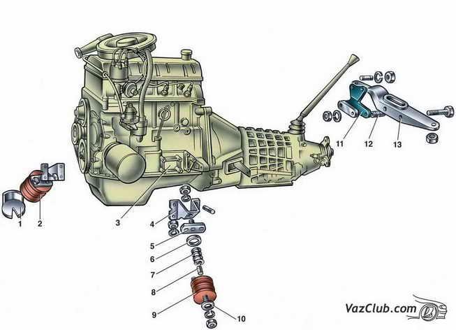 Подушки двигателя ваз 2114