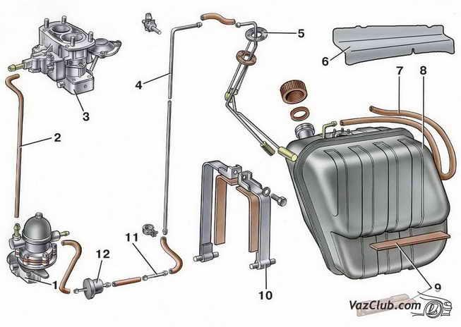Снятие и установка топливного