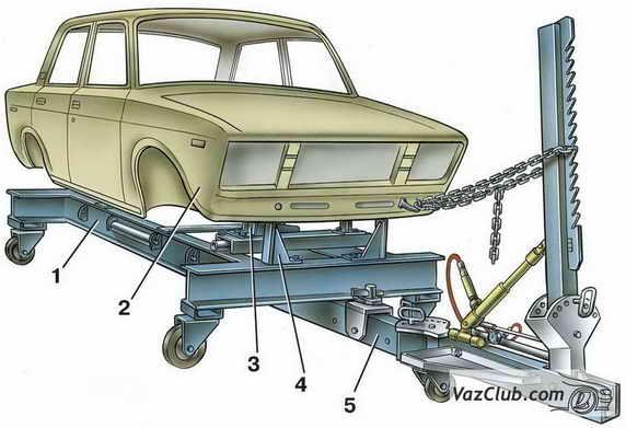 2 — кузов автомобиля;
