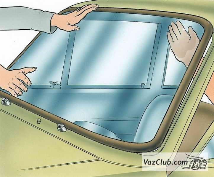 Ланос замена лобового стекла своими руками