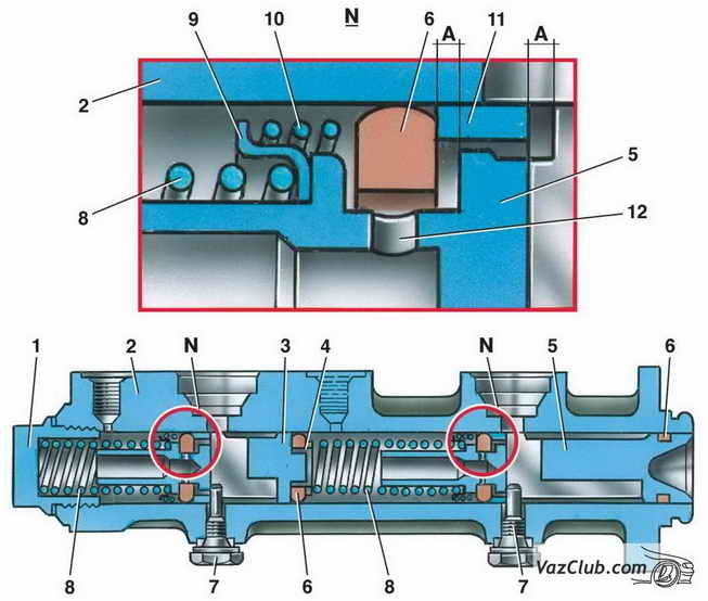 Главный тормозной цилиндр Ваз