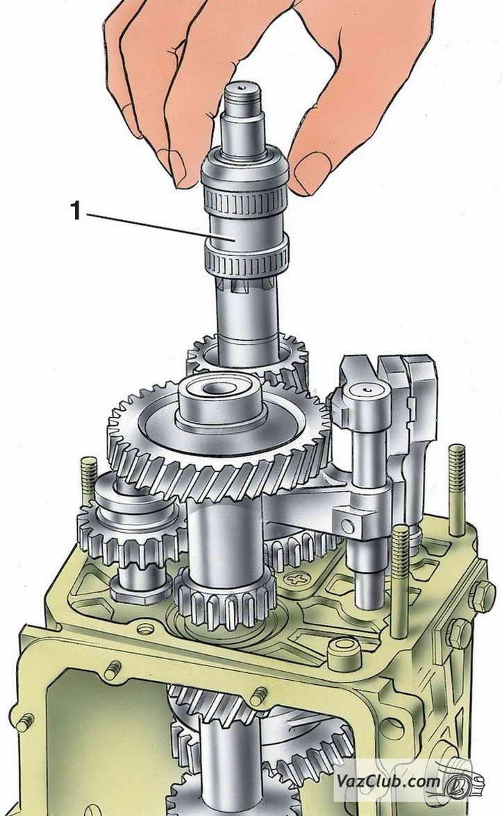 схема 5 ступенчатой кпп ваз 2107