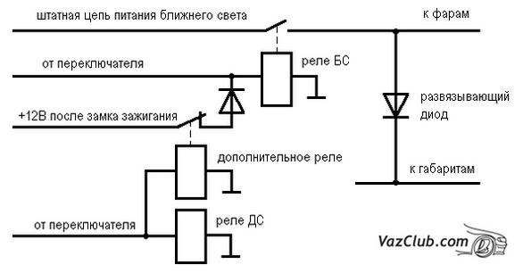 Ваз 2104 схема подключения замка зажигания.