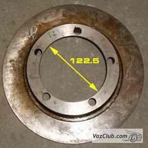 тормозной диск ваз 2105