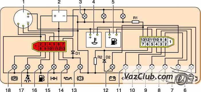 Нива с начала выпуска 21213 14 схема подольской комбинации приборов почти точный аналог Нива с начала выпуска 21213...
