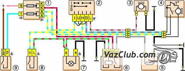 Схема предохранителей на ваз 2121 схема.