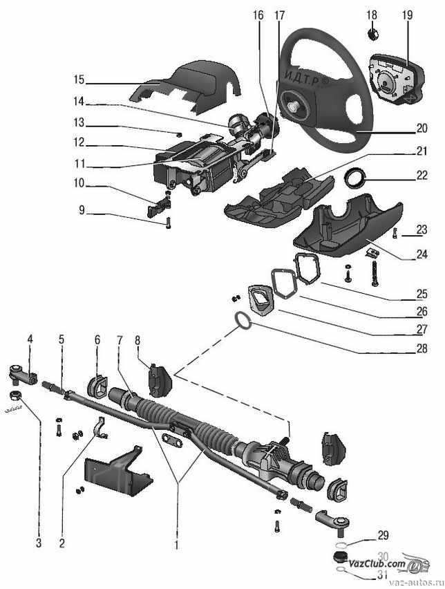 Рулевое управление лада