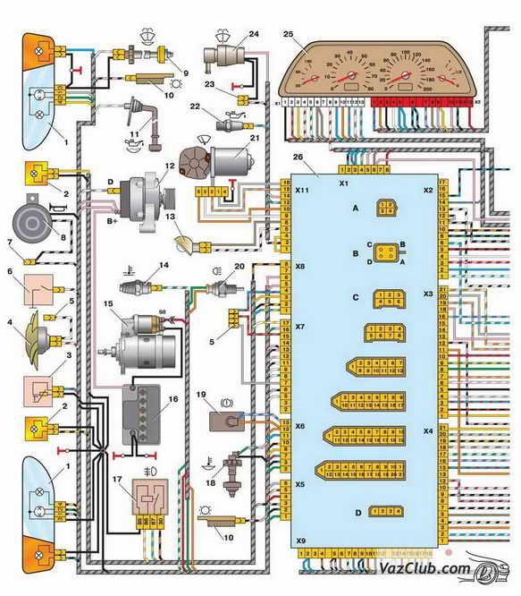Схема блока индекации бортовой