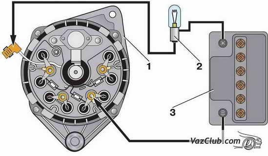 проверка диодов генератора ваз